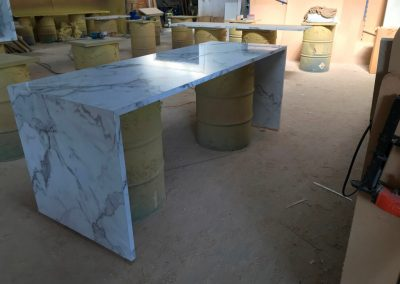 A laminate benchtop built using Benchtop fabricators DIY system